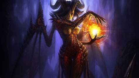Demon, magic, darkness - Phone wallpapers