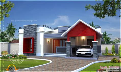 single house single floor home plan in 1400 square indian house plans