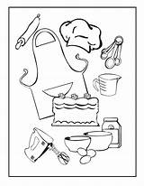 Coloring Cooking Pages sketch template