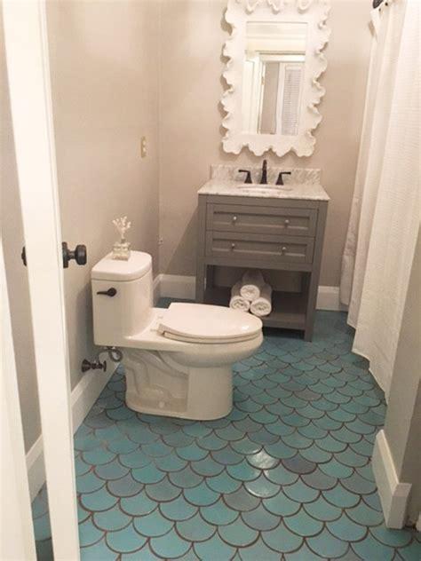 small bathroom ideas  moroccan fish scales