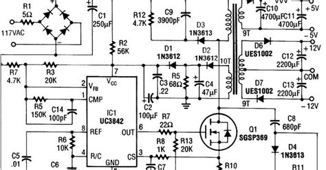 nte electronics circuit power supply switching ic uc