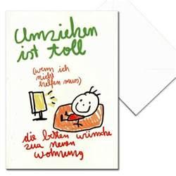 sprüche zum einzug nici glückwunschkarte umzug kinderkunst umziehen ist toll aufklappkarte