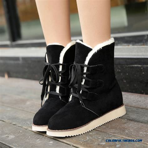 cheap  winter snow boots women short flat bottom