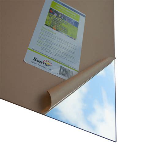 suntuf 900 x 600 x 3mm silver flat acrylic mirror sheet