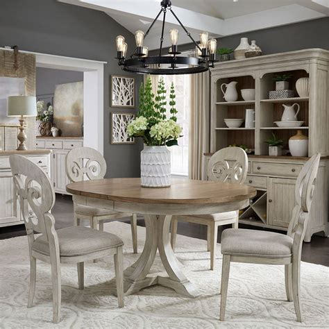farmhouse reimagined oval dining room set  splat