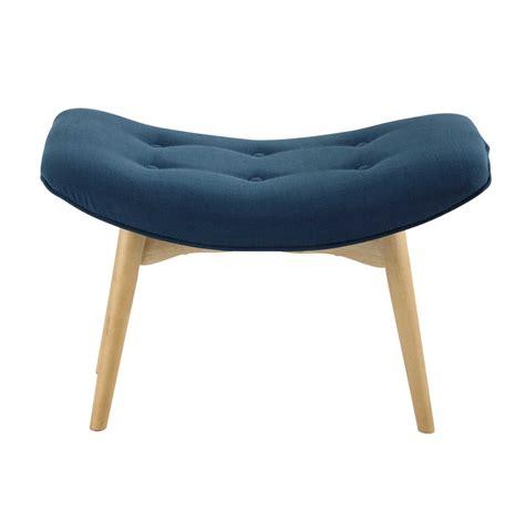 chaise bleu canard vintage pouffe footrest in petrol blue iceberg maisons