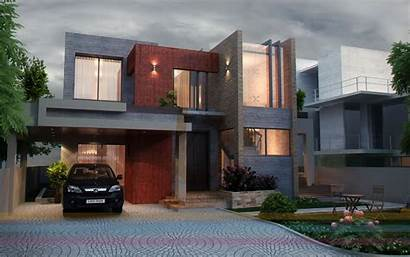 Elevation Houses Elevations Pakistan Contemporary Lahore Kanal