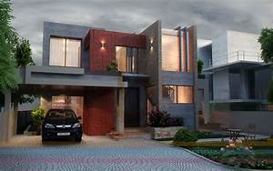 3d, Front, Elevation, Com, Dha, Lahore, 1, Kanal, Modern, Contemporary, House, Design, 3d, Front, Elevatin