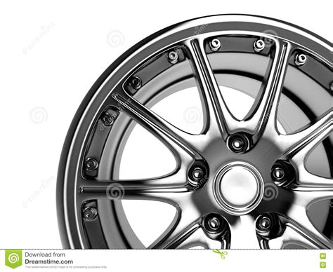 Car Rim Stock Illustration. Illustration Of Close, Disk