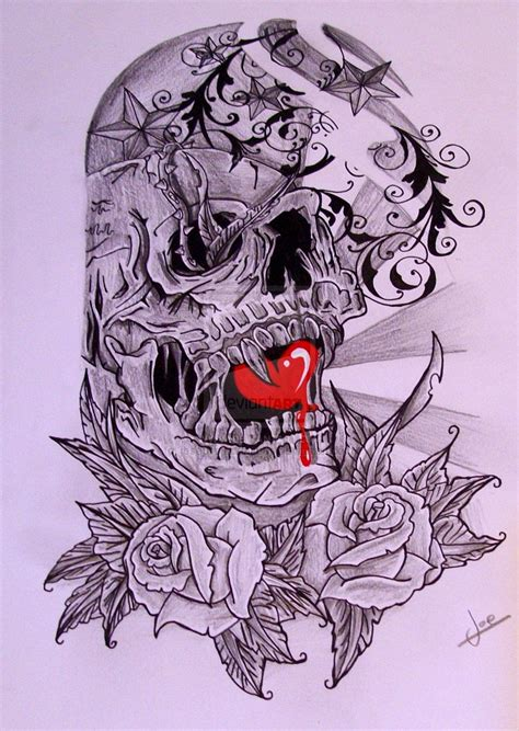 Skull Half Sleeve Tattoo Designs