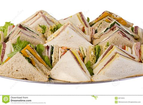 sandwich catering platter royalty  stock images