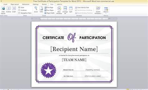 conference certificate of participation template free certificate of participation template for word 2013