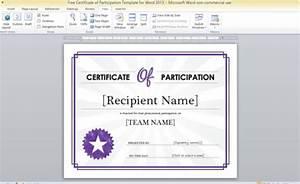certificate of attendance seminar template - free certificate of participation template for word 2013