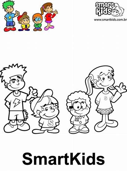 Turma Smartkids Colorir Desenho Personagens Desenhos Atividades