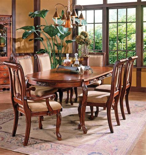 harmony oval leg formal dining room set steve silver