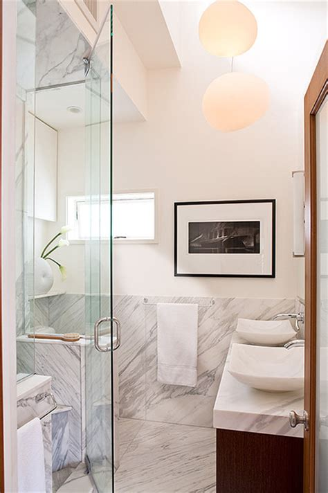 carrera marble bathroom contemporary bathroom