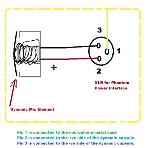 3 Wire Microphone Wiring Diagram by Audio Dynamic Microphone With Xlr Phantom Power