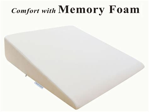 Intevision Extra-large Foam Wedge Bed Pillow