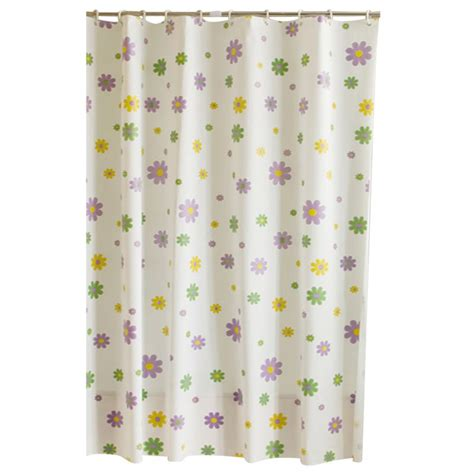 shower bathroom curtain fabric drapes panel 12 hook ring