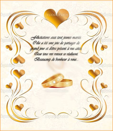modele carte de voeux pour mariage carte de mariage lourdoueix23