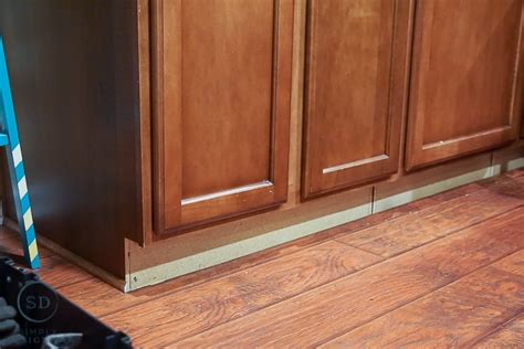 cabinet base molding kitchen remodel reveal how to install a kitchen cabinet