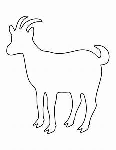 Goat pattern. Use the printable outline for crafts ...