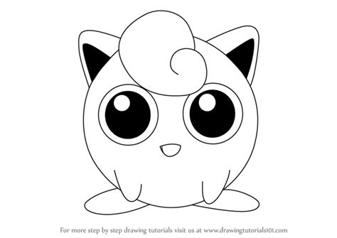 Jiggly Puff Kleurplaat by Jigglypuff Coloring Pages Sketch Coloring Page