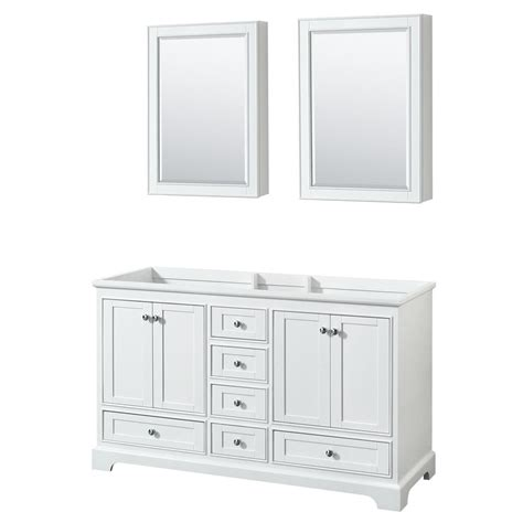 wyndham collection medicine cabinet wyndham collection deborah 59 25 in w x 21 5 in d vanity
