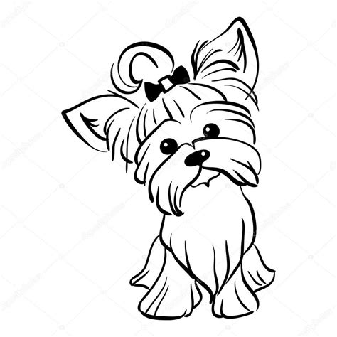 yorkie coloring pages sketch coloring page dog stencil
