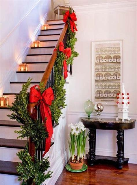 christmas decorating ideas  festive staircase designs