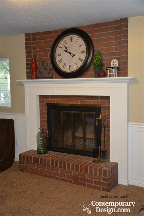 how to make a fireplace mantel brick fireplace makeover