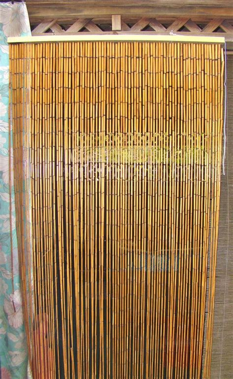 bamboo beaded curtain divider boho decor instead of a