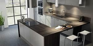 cuisine moderne grise hygena interieur pinterest With cuisine moderne