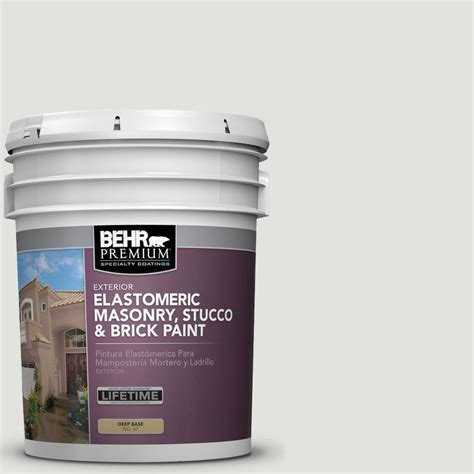 Elastomeric Deck Coating Home Depot by Behr Premium 5 Gal Elastomeric Masonry Stucco And Brick