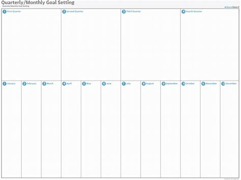 The Best Quarterly Goal Template by Quarterly Monthly Goal Setting With Whiteboard And