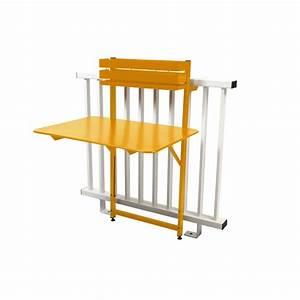 Table De Balcon Pliante : table de balcon pliante fermob bistro acier l77 cm miel ~ Melissatoandfro.com Idées de Décoration