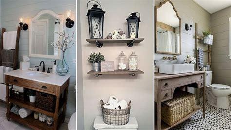 Home Decor Ideas Bathroom by Diy Rustic Shabby Chic Style Bathroom Decor Ideas Rustic