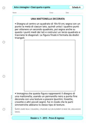 Arte E Immagine Scuola Media Test Ingresso Prove D Ingresso Arte E Immagine Classi 4 5 La Vita
