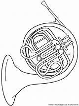 Coloring Pages Instruments Horn Musical French Tuba Instrument Fun Kleurplaten Printable Colouring Drawing Muziekinstrumenten Printables Zo Bugel Kleurplaat Orchestra Van sketch template