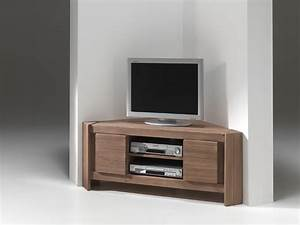 Meuble D Angle Pour Tv : meuble tv bas angle ~ Teatrodelosmanantiales.com Idées de Décoration