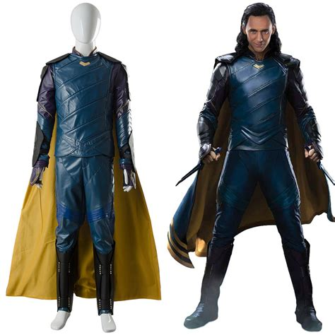 Loki Thor 3 Ragnarok Outfit Sakaar Suit Blue Ver Cosplay