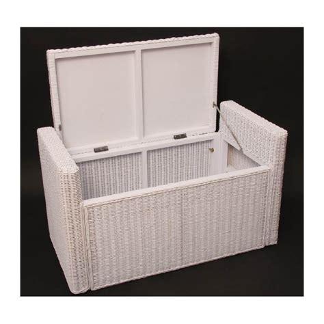 banc coffre chambre adulte banc banquette coffre de rangement en rotin blanc ban with