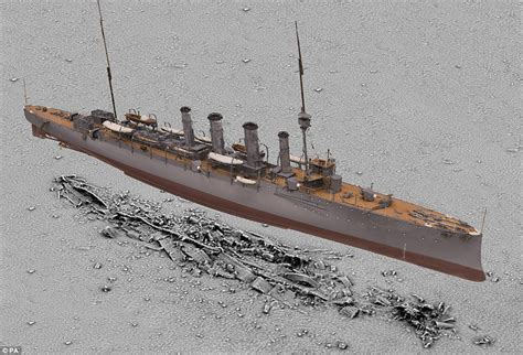 German U Boats Technology by Experts Digitally Recreate Hms Falmouth 100 Years After It