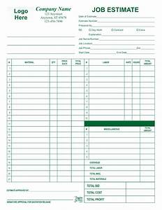 free landscape job estimate forms joy studio design With job estimates templates