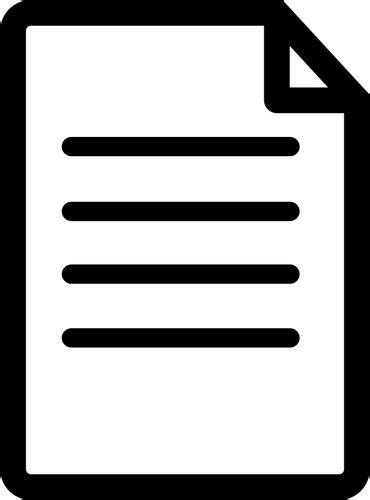 documents clipart document icon domain vectors