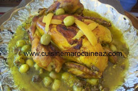 cuisine marocaine poulet aux olives poulet aux olives et citron confit la cuisine marocaine