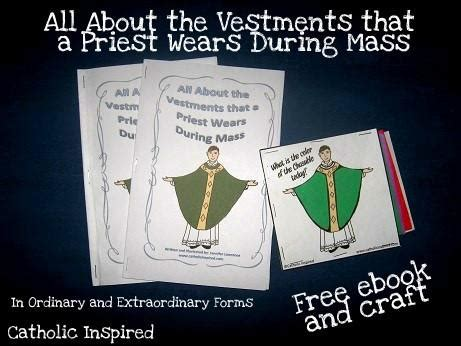 learning  priest vestments printable book craft