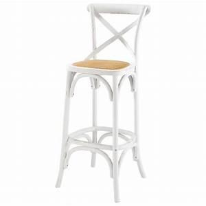 Maison Du Monde Chaise De Bar : chaise de bar en rotin et bois blanc tradition maisons du monde ~ Teatrodelosmanantiales.com Idées de Décoration