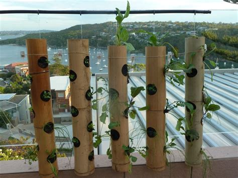 Bamboo Vertical Garden by Vertical Gardening Turn The Balcony Pot Plant On It S
