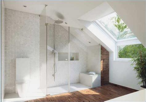 kleines bad mit dachschraege gestalten